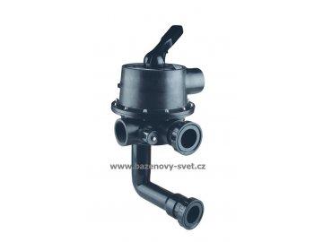 """Ovládací ventil 2 1/2"""", pro s boční připojení k filtru"""